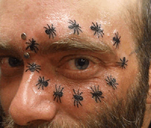 spider tattoos around the eye, Bad Tattos, Worst Tattoos Funny Tattoos Studpid tattoos, body art tramp stamps horrible tattoos best tattoos awesome tattoos body piercings crazy tattos on arm face tats tatto removal worst ever