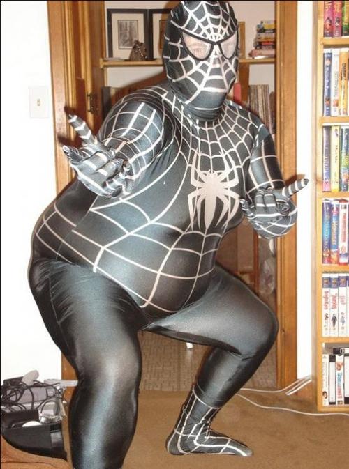 Fat Spider Girl ~Worst Halloween Costumes: 23 Bad, Stupid & Tasteless