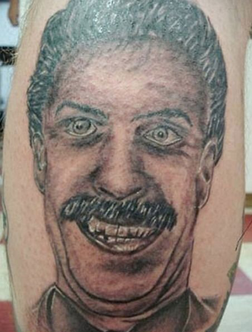 Borat Tattoo regrettable bad tattoos terrible awful ugliest tattoos wtf ugly horrible tattoos funny tattoos awkward family america's worst tattoos photos crazy people weird stupid redneck humor
