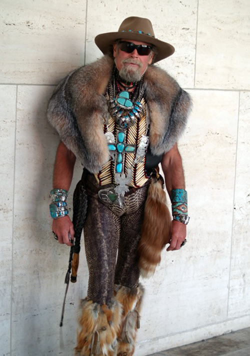 man in fur and turquoise Worst dressed men fashion disasters fashion fails worst tattoos bad tattoos worst family photos funny family pictures awkward family photos weird poorly dressed men males guys ugly ugliest clothes horrible awful wtf