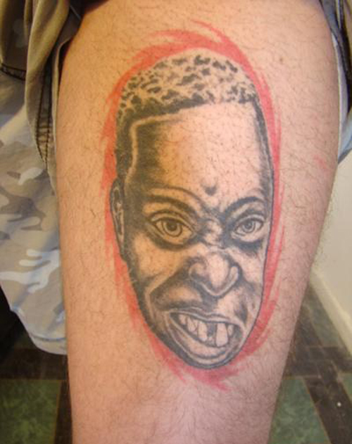 Bad Portrait tattoos bad tattoos regrettable terrible awful ugliest tattoos wtf ugly horrible tattoos funny tattoos awkward family america's worst tattoos photos crazy people weird stupid redneck humor