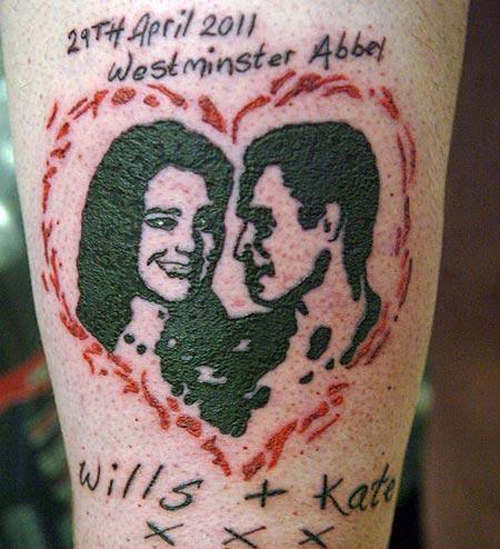 Will & Kate Tattoo Royals Will & Kate wedding regrettable bad tattoos terrible awful ugliest tattoos wtf ugly horrible tattoos funny tattoos awkward family america's worst tattoos photos crazy people weird stupid redneck humor
