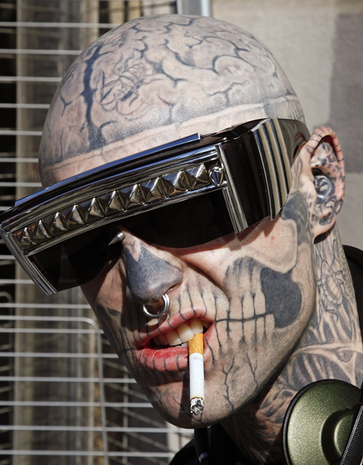 Zombie Boy Sunglasses Smoking Funny Tattoos regrettable bad tattoos terrible awful ugliest tattoos wtf tattoos, horrible tattoos awkward family photos america's worst tattoos photos crazy people weird people stupid humor redneck humor