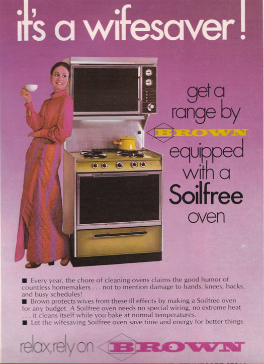 Wifesaver Brown Oven Range ~ The most sexists advertising