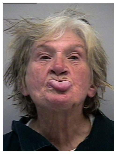 Old woman sticking tongue out Funny Mugshots Stupid Criminals Hilarious Mugshots Crazy Wild Bizarre WTF Best Mugshots Great