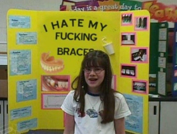 I hate my fucking braces ~ 36 Funny School Science Fair Projects!