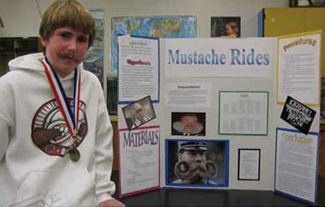 Mustache Rides~ 36 Funny School Science Fair Projects!