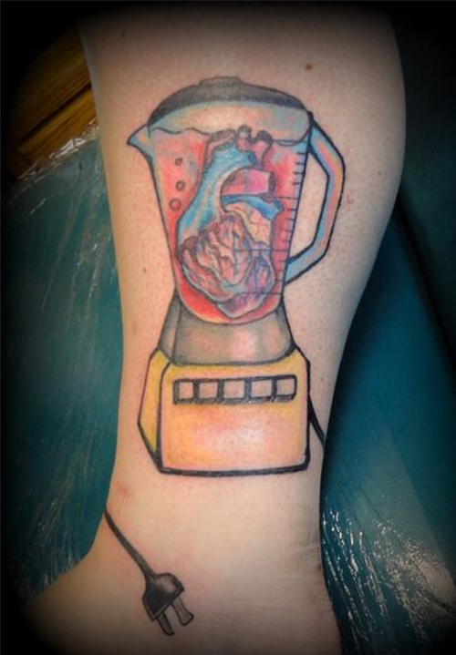 Blender With Heart Worst tattoos Bad Tattoos Funny WTF Regrettable Tattoo Fails Stupid Horrible