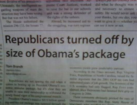 Republicans turned off Obama's Package Funny Pictures Random Pics Dump Stupid Humor Memes Weird Strange WTF LOL Goofy