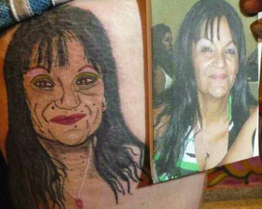 Portrait of Woman Fail Bad Tattoos America's Worst Tattoos Regrettable Horrible Awkward Stupid People Regrets Misspelled Nasty Tats WTF Funny