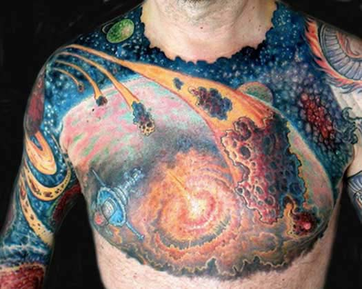 Space - Bad Tattoos America's Worst Tattoos Regrettable Awkward Stupid Ugliest Nasty Tats WTF Funny