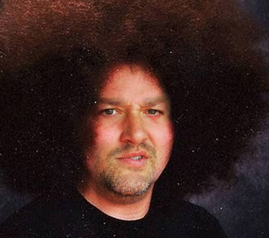 Funny Pictures of Tony Stewart Afro – Kobalt Tools 400 Las Vegas NASCAR Pictures Driver Photos