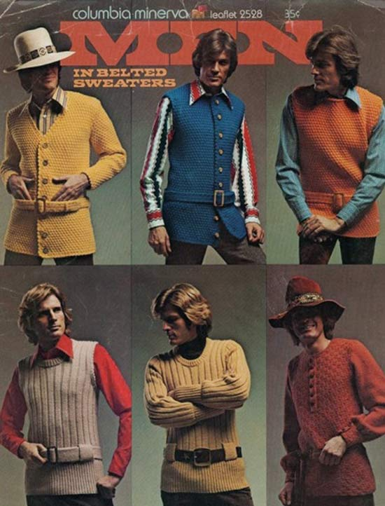 Hot Belted Sweaters ~ 35 Bitchin' 1970s Mens Fashions