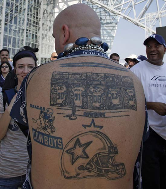 Dallas Cowboys ~ 24 of the Worst NFL Fan Tattoos