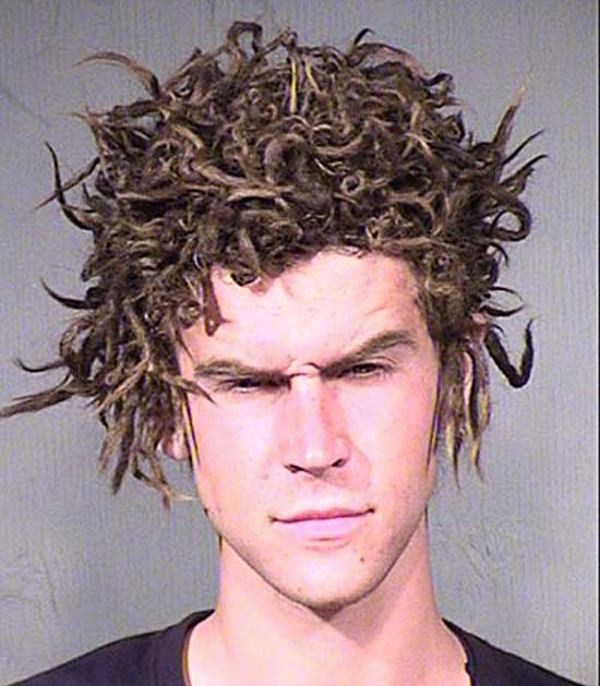 The Male Medusa ~ 27 Hilarious Mugshots