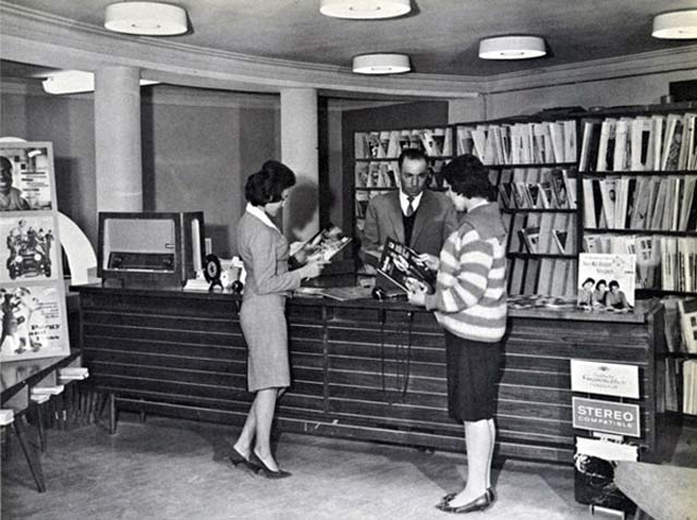 Afghan women in record store, pre-Taliban ~ 28 Rare Historical Photos You Must See
