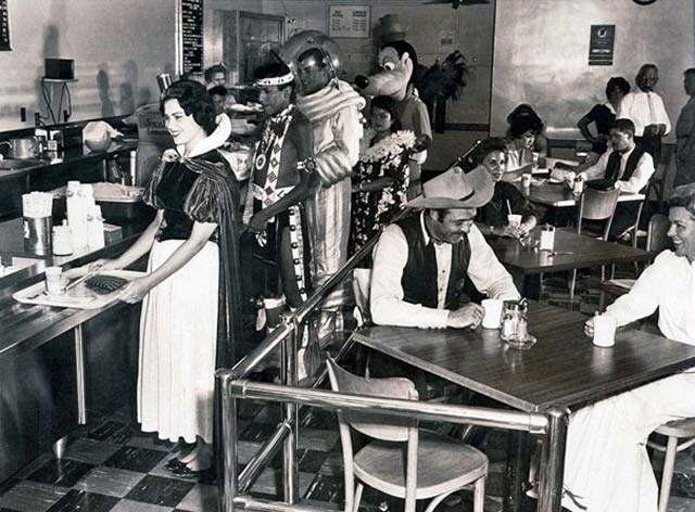 Disneyland Employee Cafeteria, 1961 ~ 28 Historical Must See Photos