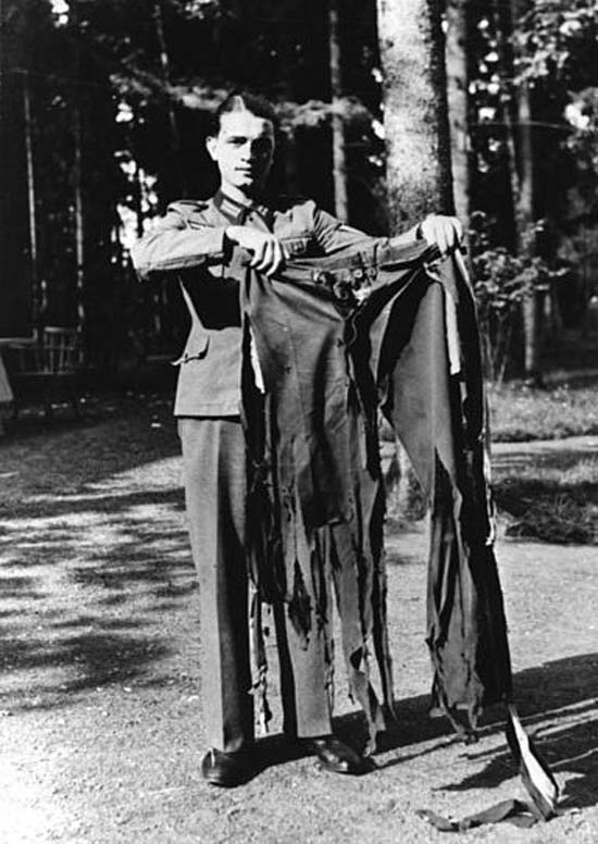 Hitler's Pants after failed assassination attempt ~ 28 Rare Historical Photos You Must See