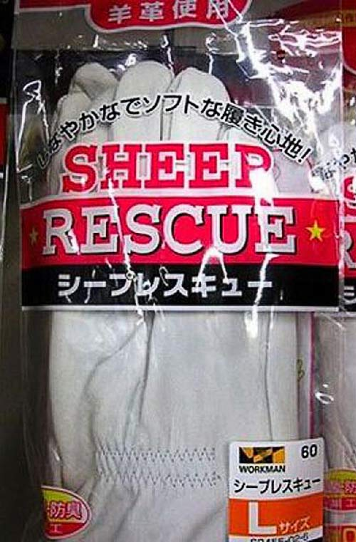 Sheep Rescue ~ 27 Strange, Funny Product Names