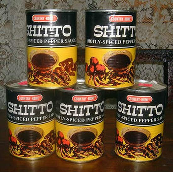 Shitto Pepper Sauce ~ 27 Inappropriate, Funny Product Names