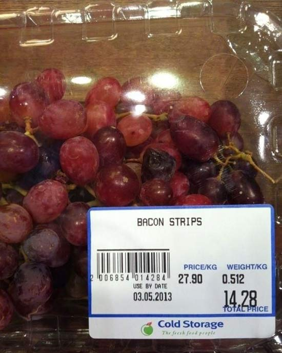 Bacon Strip Grapes ~ 27 You Had One Job Fails