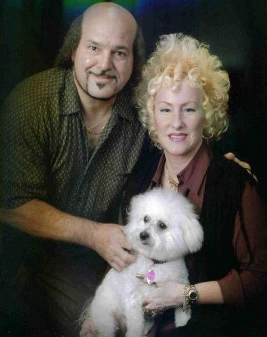 Awkward Portrait: Couple with Poodle ~ 16 Funny Family Photos