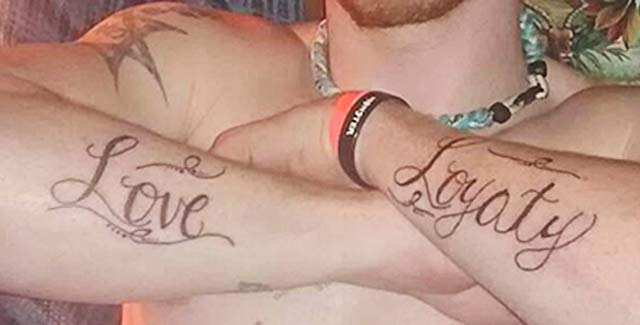 Misspelled Love & Loyalty ~ 14 of the Worst Bad Tattoos