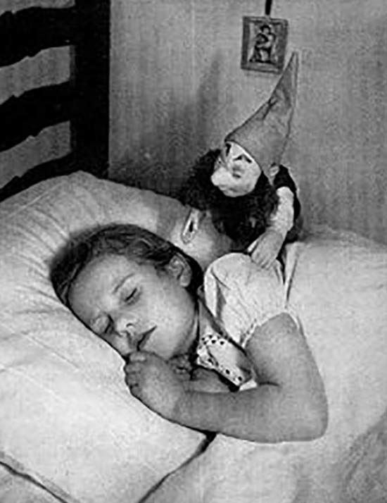 Girl Sleeping Creepy Doll Watching Her ~ 25 Scary Photos
