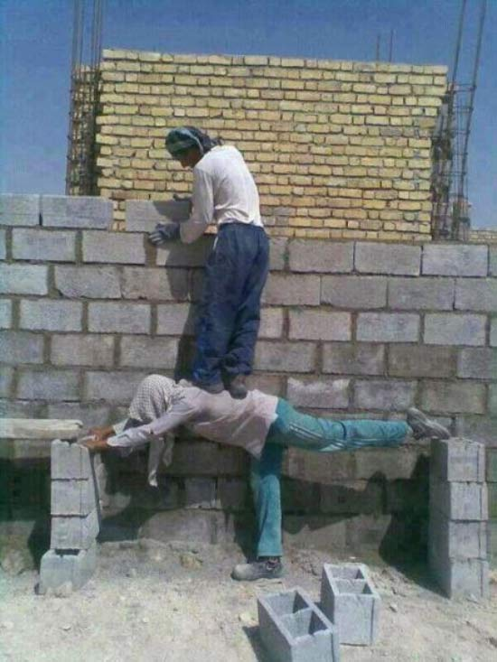 Redneck Solutions: Man Scaffold