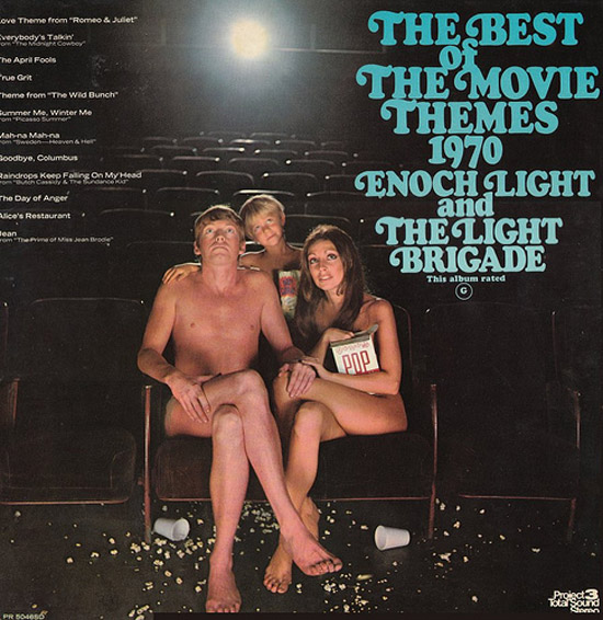 The Best Movie Themes of 1970 ~ Enoch Light Brigade ~ Album Cover Art ! The Bad, The Funny The Worst