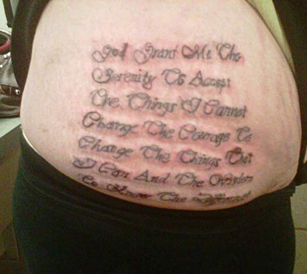God Granted Me ~ 16 of the Worst Bad Tattoos