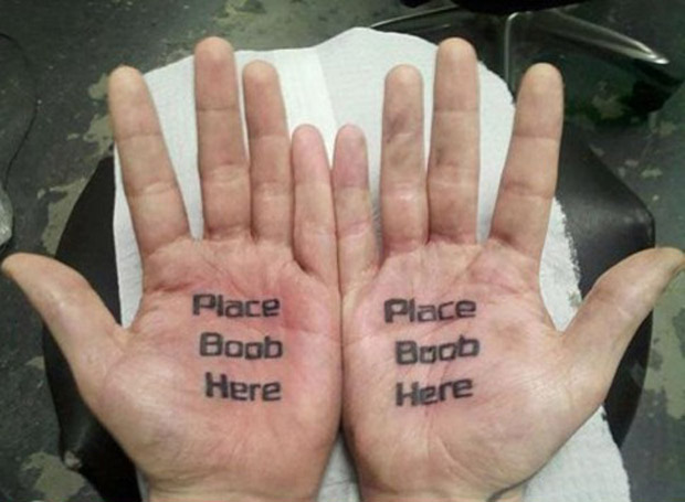 Place Boobs Her on Hands ~ 14 of the Worst Bad Tattoos