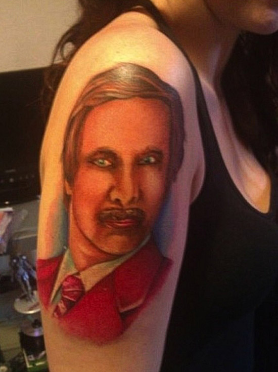 Feminine Ron Burgundy Anchor Man ~ 15 of the Worst Bad Tattoos