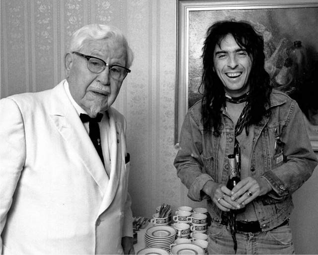 Vintage Photo: Colonel Sanders and Alice Cooper together