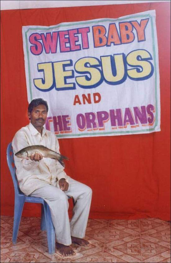 Pakistani Man Holding Fish: Jesus and the Orphans