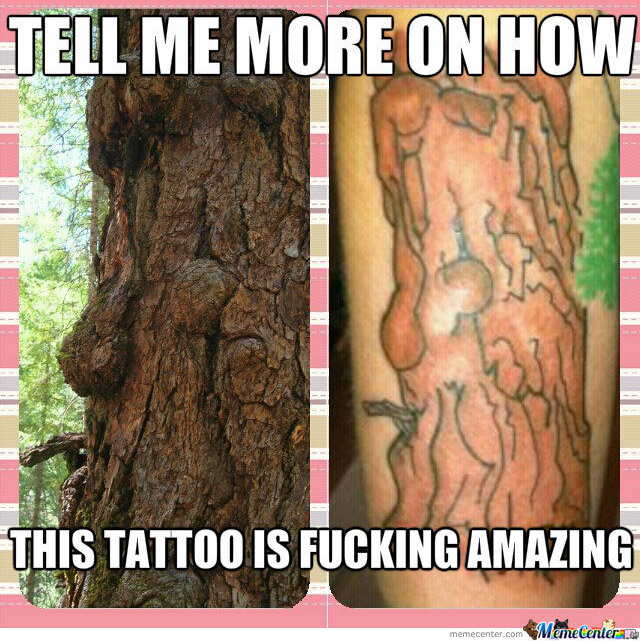 Ugly Tree Tattoo That's Not Amazing ~ 15 of the Worst Bad Tattoos