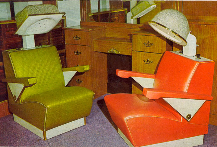 vintage beauty shop dryer chairs 1950s 1960s