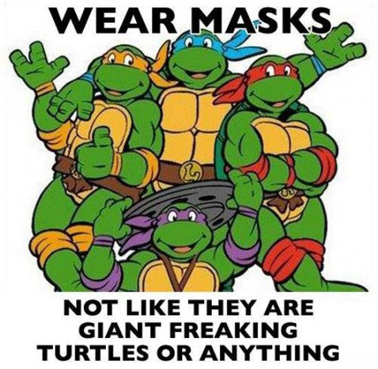 32 Examples of Funny Cartoon Logic ~ Ninja Turtle Masks
