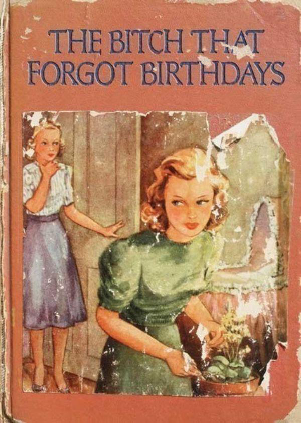 The Bitch That Forgot Birthdays ~ inappropriately bad children's book covers