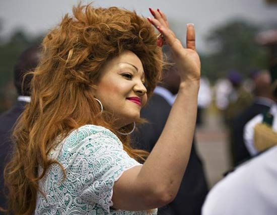 Funny big haired woman