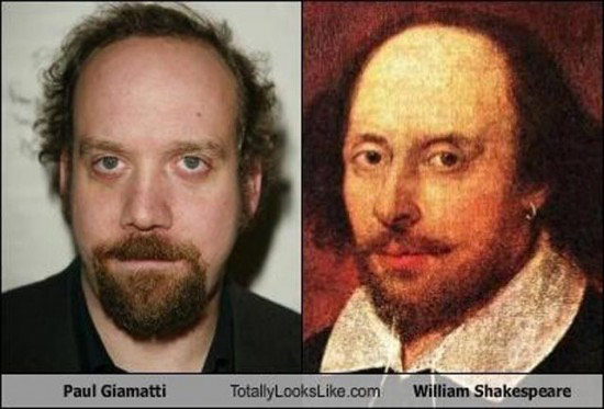 Celebrities that look like Historical Figures ~ Paul Giamatti William Shakespeare
