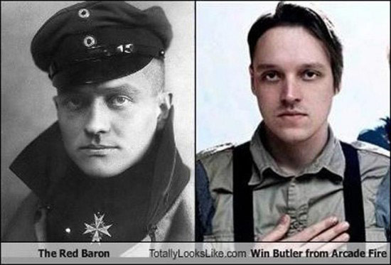Celebrities that look like Historical Figures ~ Red Baron Win Butler Arcade Fire