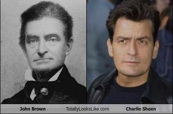 Celebrities that look like Historical Figures ~ John Brown Charlie Sheen