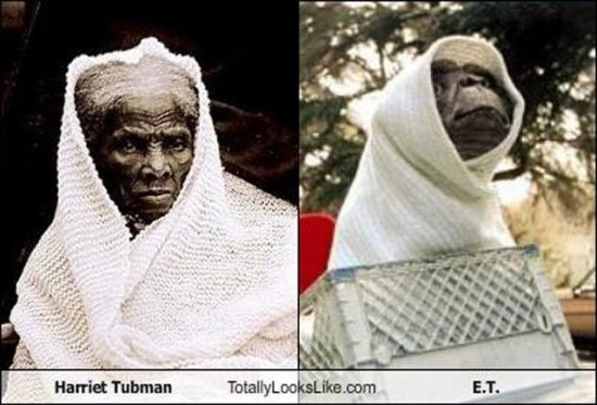Celebrities that look like Historical Figures ~ Harriet Tubman E.T.