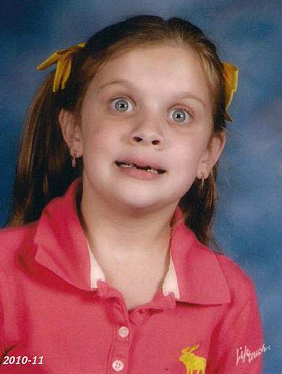 Funny school pictures stunned looking elementary school girl