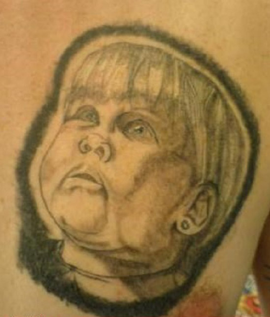 Ugly baby portrait ~ The ugliest worst bad tattoos