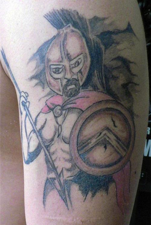 sparan trojan warrior ~ The ugliest worst bad tattoos