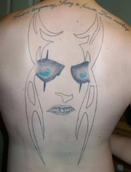 creepy face ~The Ugliest Worst Bad Tattoos