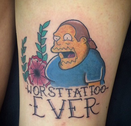 Comic Book Guy ~ Worst Tattoo Ever ~ The Simpsons