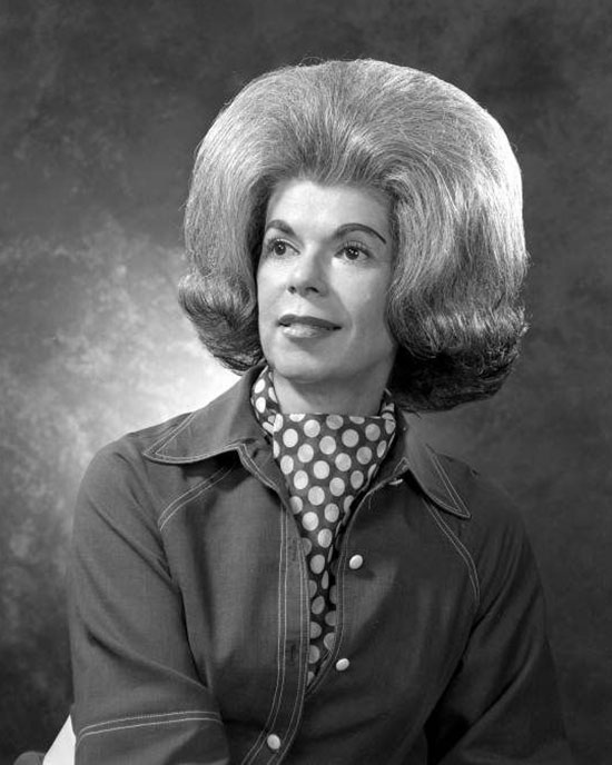 Woman with big hair, vintage 1960s portrait ~Funny Awkward Family Photos